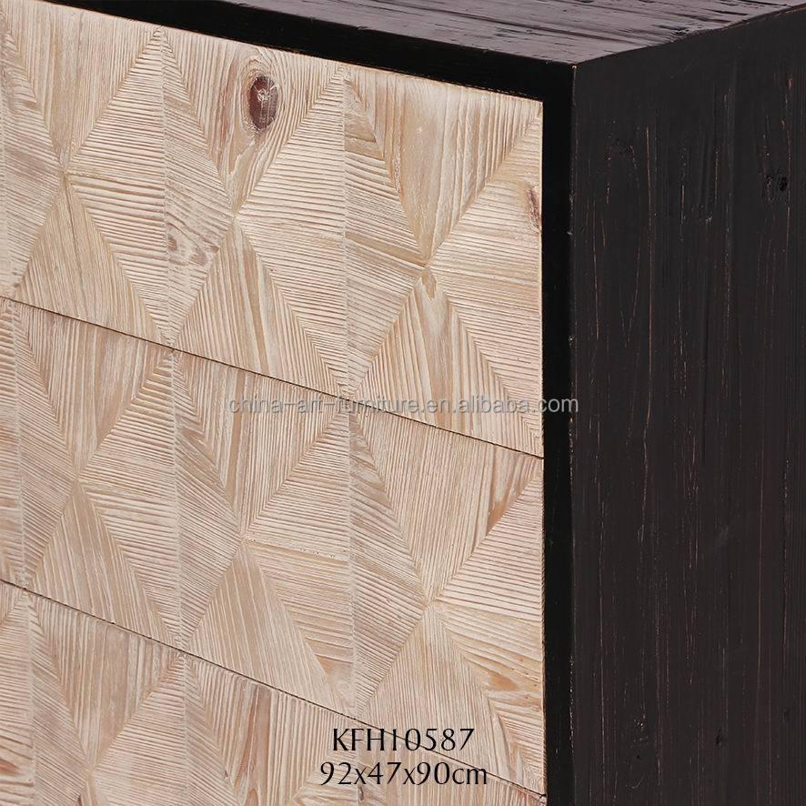Nueva reproducción clásica gabinete lateral, shabby chic madera ...