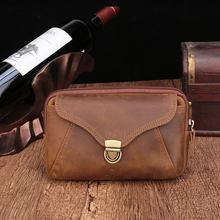 Поясная Сумка BISI GORO из натуральной кожи, поясная сумка для мужчин и женщин, мобильный телефон, кошелек для монет, винтажная сумка на бедрах ...(Китай)