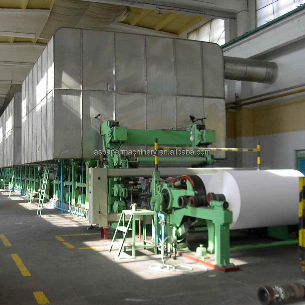 China Small Rolling Office A4 Copy Paper Making Machine Production ...