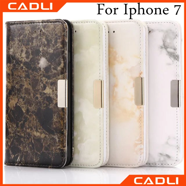 High Quality Blank Marble Leather phone case for iphone 7 with Wallet function