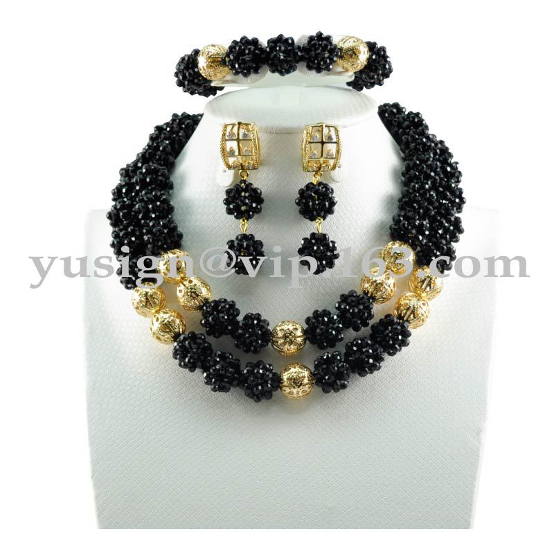 DHL Free Shipping!!! Factory Price!!! Top Quality Hot Selling Fashion Handmade Nigerian Beads Jewelry Set FS8574