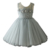 kids princess simple design girls cotton frock with appliqued flowers summer dress for baby girls