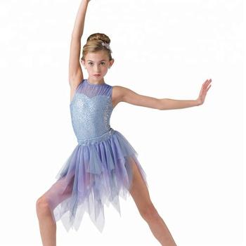 0f4aaa819 Fairy Girls Purple Sequin Lyrical Dance Costume Performance Dresses ...