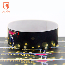 OEM And ODM Waterproof Promotional Wrist Band Logo Tyvek Club Entrance Wristband Paper Security For Night Club