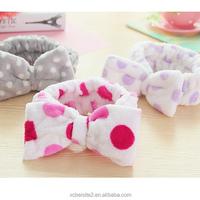 wholesale custom ladies bath big bow lovely ladies hair bands