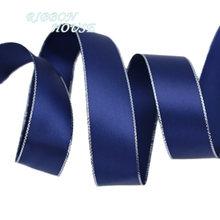 (10 ярдов/партия) 25 мм Двусторонняя Серебряная кромка, напечатанная сатиновая подарочная лента, свадебные кружевные тканевые ленты, оптовая ...(Китай)