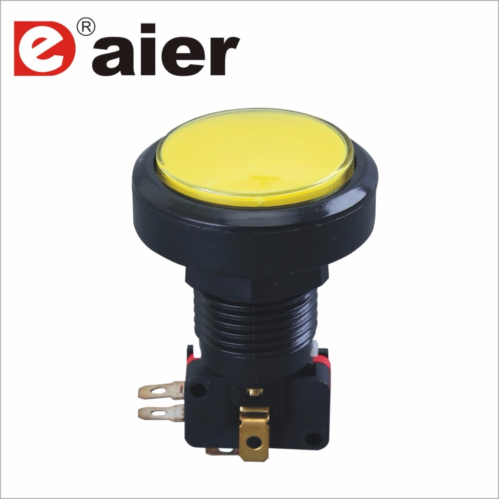 24mm NO NC Plastic Micro Arcade Push Button LED Switch