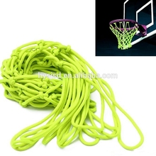 Wholesale outdoor net and basketball hoop accessories glow in the dark nylon basketball net