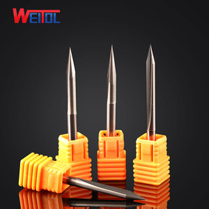 WeiTol cnc woodworking tools end mill 2 flute carbide tool bit 5A Double flute straight Engraving Bit 4mm series