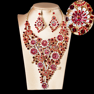 free shipping high quality handmade african big diamond necklaces jewelry sets