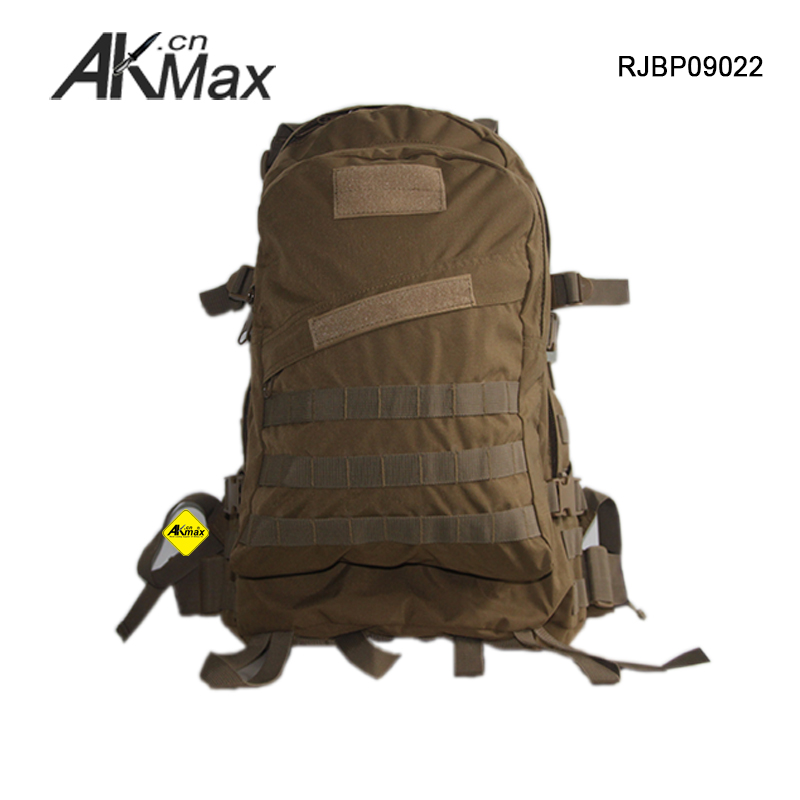 Khaki tactical molle 3-day assault small military backpack