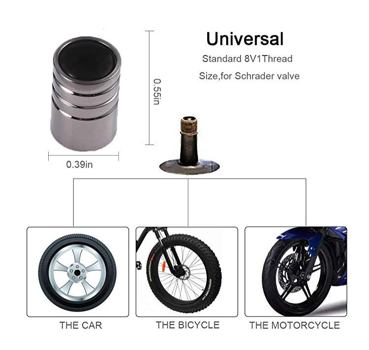 4 x negros de hule tapas válvula tapas para coches automóviles camiones motocicleta-nuevo