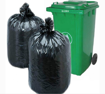 32 L High quality good supplier provide custom made black printed Garbage Plastic Trash Bags,can liner