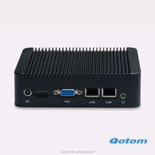 Latest Dual Lan fanless mini pc 12v industiral computer Core i3 CPU Barebone with 1080P