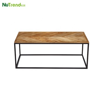 Best Chevron Solid Wood Metal Prices Coffee Table Modern Wooden Tables Product On