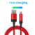 Led Breathing light 1m 3ft micro Type-C usb data cable line for iphone 2.4a Mobile Phone Type-C power off Cable