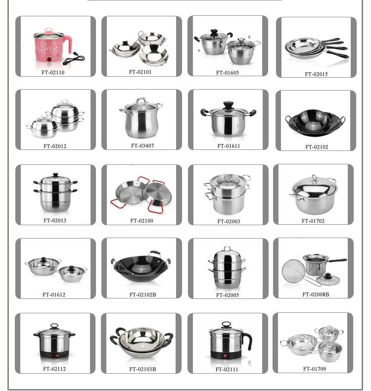 Stainless steel food steamer HC-02016-B