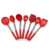 FDA approval 8 pieces good grip silicone cooking kitchen utensils set