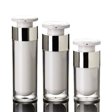 Acrylic Vacuum Cosmetic bottles with lock