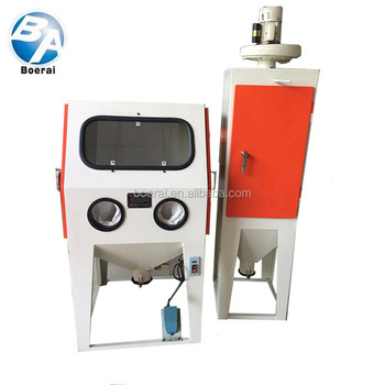 suction abrasive sand blast cabinet safety equipment with dust collecotor