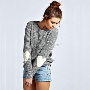 long sleeve knitted pullover tops loose casual sweater jumper women knitwear