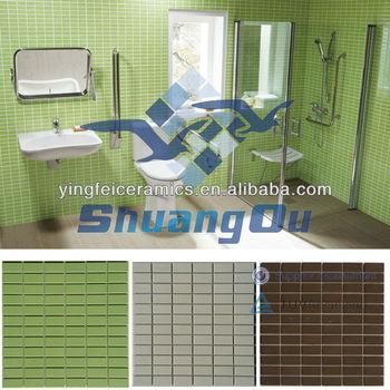 Bagno In Mosaico Piastrelle Di Colore Verde Per Piastrelle Muro Del ...