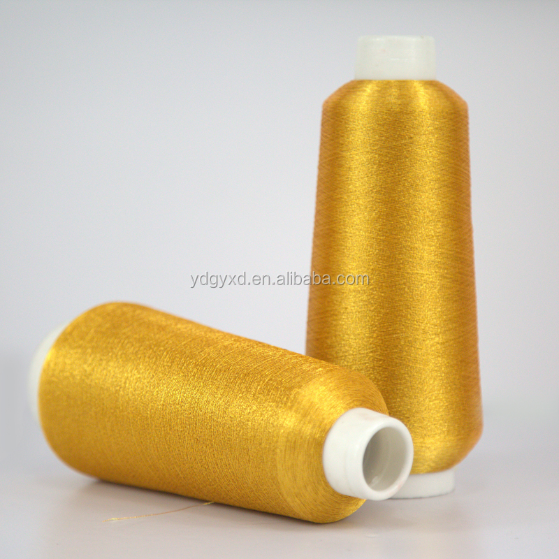2016 fluorescent gold ms type embroidery thread metallic yarn