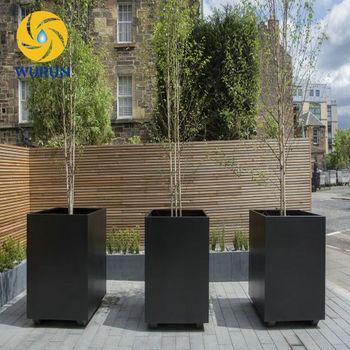 Exhibition Decoration Metal Garden Planters Large Pots For Outdoor Plants  Glazed Garden Pots