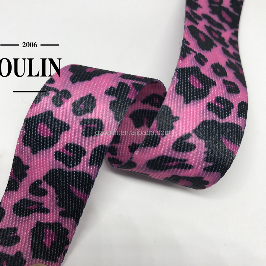 leopard print hoodies fruit type printed ribbons using on fashion garments tapes can be customized tapes