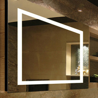 Hotel Bath Vanity LED Lighted Wall Mounted Bathroom Mirrors