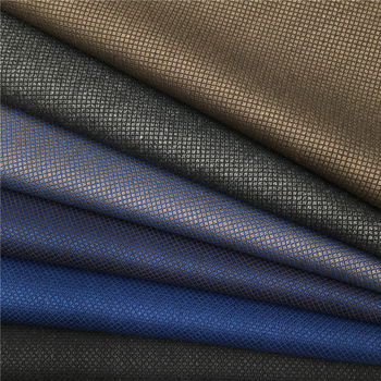 High-end yarn-dyed 65%polyester 35%viscose material bird eye mesh textured suiting men's suit pant uniform woven TR fabric
