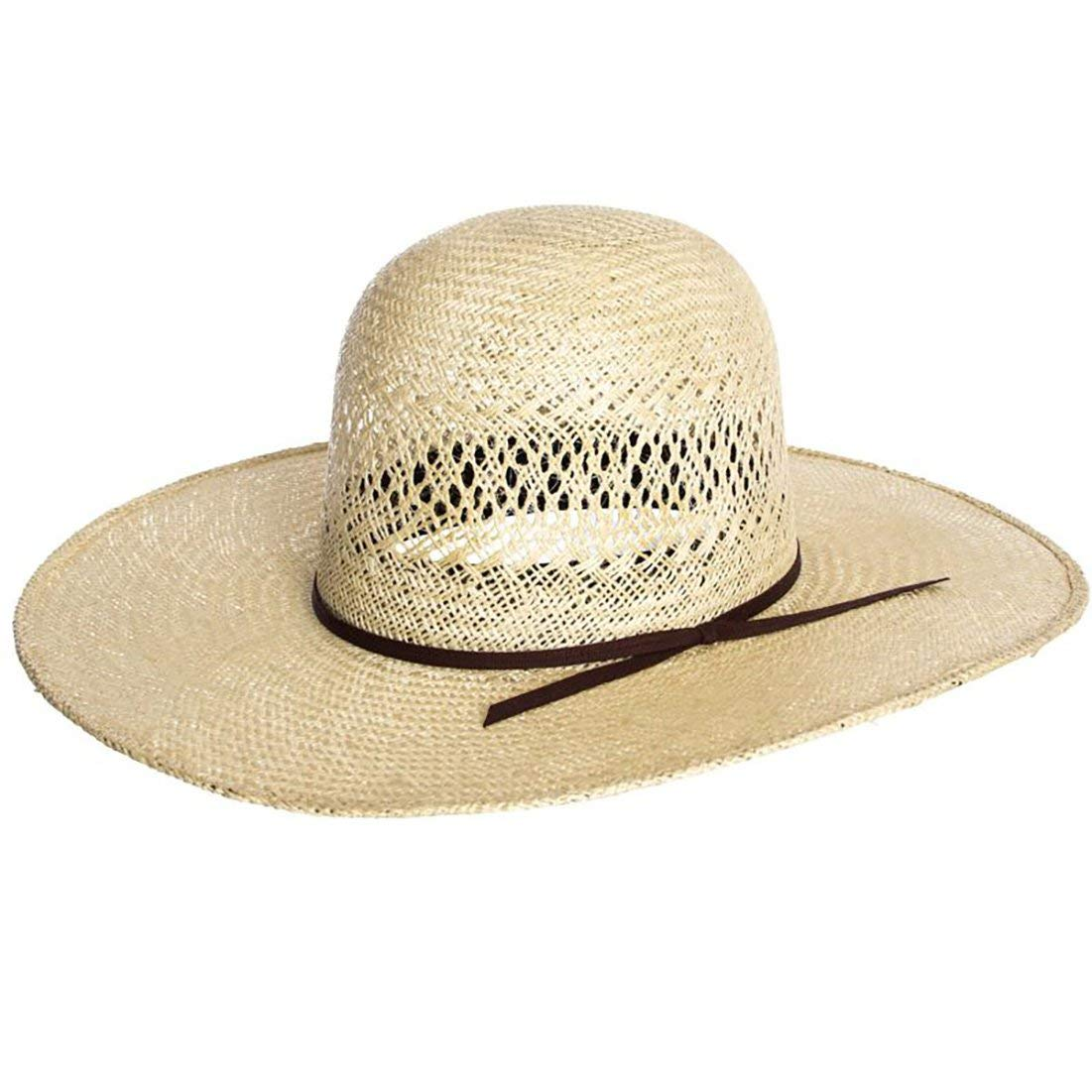 Get Quotations · RODEO KING Womens Jute Open Crown 4 1 2 Brim Straw Cowboy  Hat 77d1981867e7