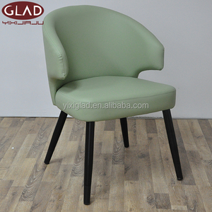 Good quality cheap PU leather metal tube modern style high back dining chair