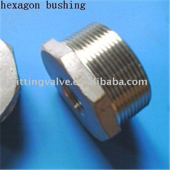 "Stainless Steel Reducing Hexagon Bushing 1/8""~4"""