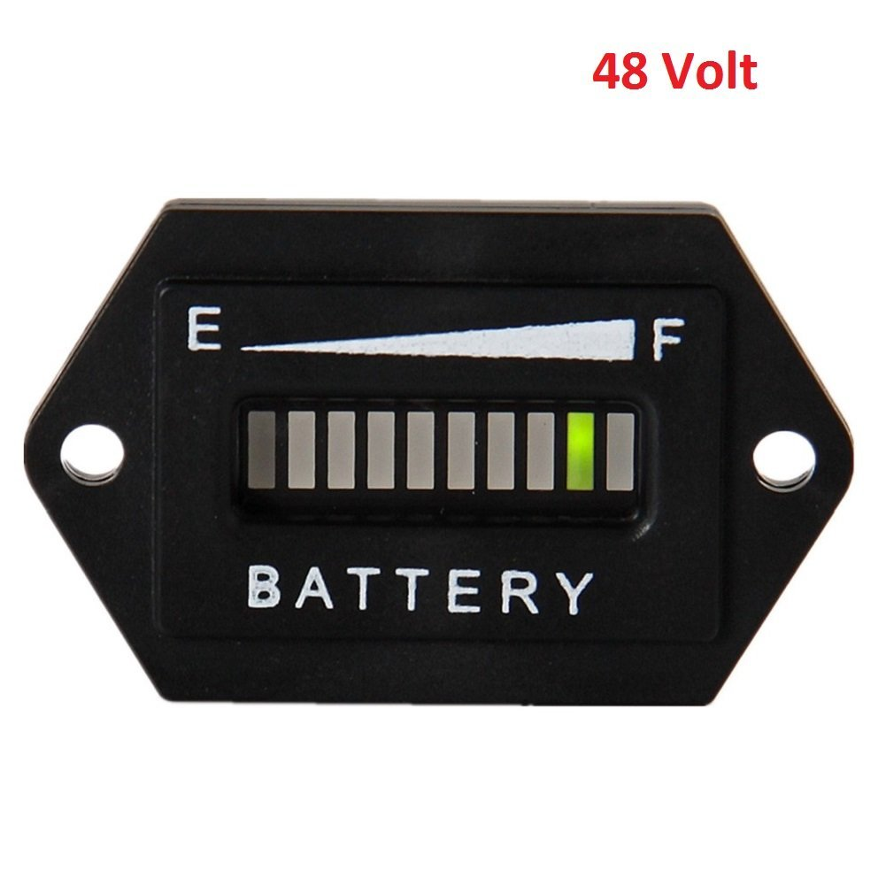Cheap Car Battery Status Indicator Find Golf Cart 36 Volt Ezgo Wiring Diagram F401 Get Quotations Searon Led Charge Power Monitor Meter Gauge Club
