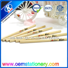 High quality EN71 basswood HB pencil custom logo printed