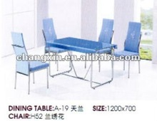 glass dinning table set for sale