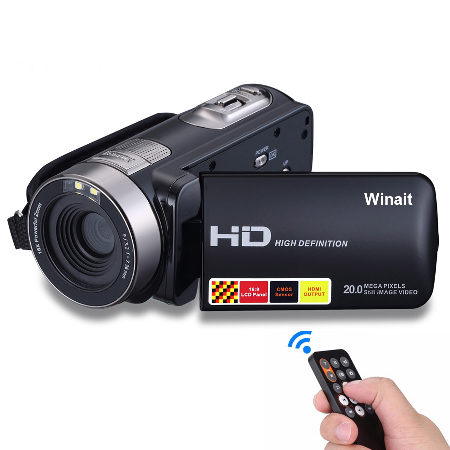 Winait 2019 night vision digital video camera full hd 1080p with 3.0'' touch display фото