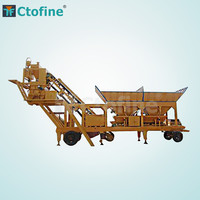 Cheapest price 25m3/h ready mix mini mobile concrete batching / mixing plant for sale