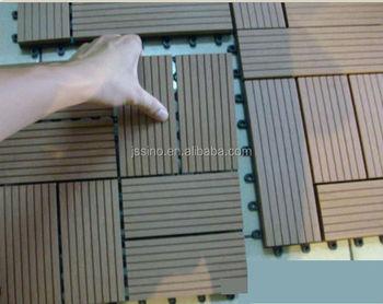 Set piastrelle pavimento per esterno in wood plastic wpc colore