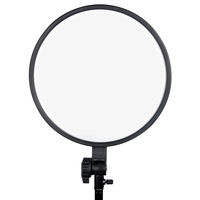 75W 3200-5600k ultra thin led light panel Dimmable Round LED Panel Light with LCD Display