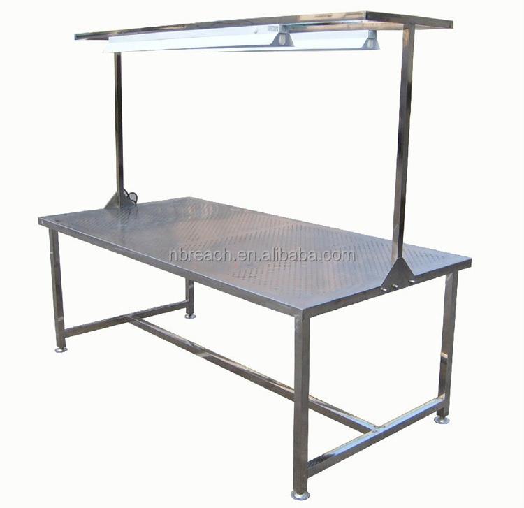 Table de travail en acier inoxydable avec sous tablette - Table en acier inoxydable ...