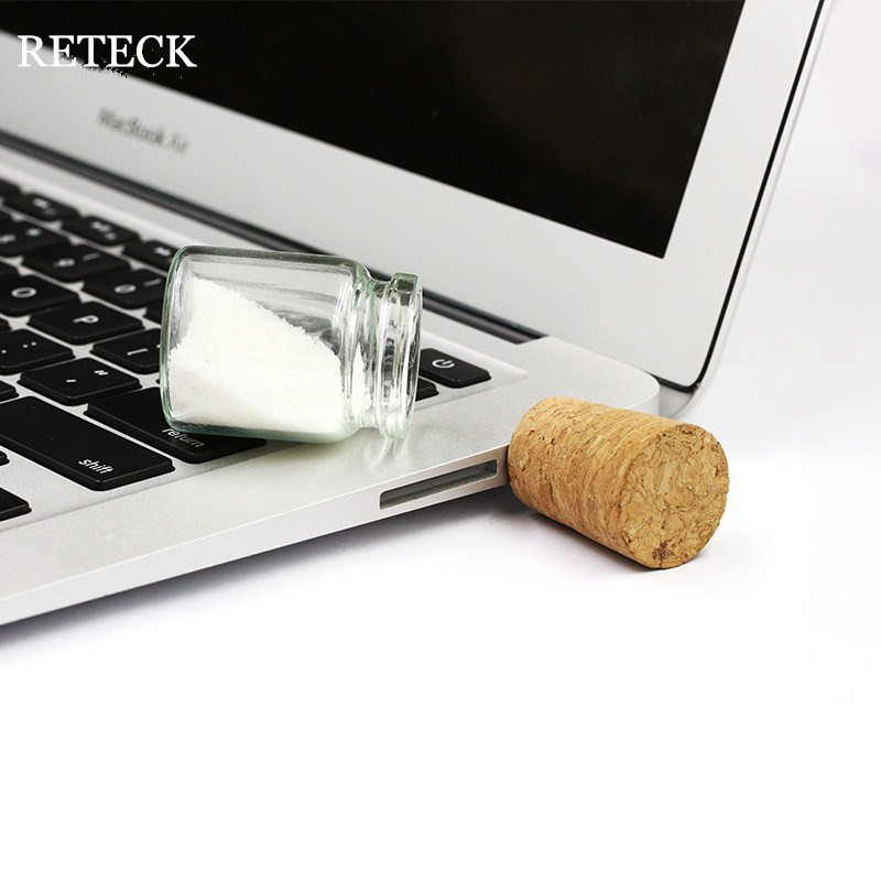 Free Samples memory stick Promotional Gifts Message in Bottle Real Capacity Glass Usb Flash Drive