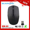 Green 2.4GHz Wireless Cordless Optical Mouse USB Dongle Computer Laptop