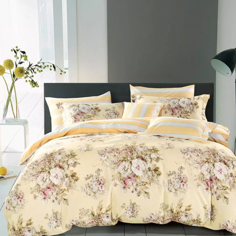 Beautiful printed floral bedding bed sheet sets
