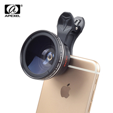 Apexel 0.45WM wide angle mobile phone 카메라 렌즈로 구성 2 in 1 lens kit 대 한 iphone X XS Mas