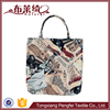 Cotton and polyester custom reusable shopping bag
