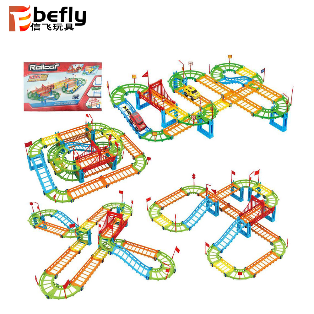 2020 kids indoor play christmas gift classic plastic railway train set toy