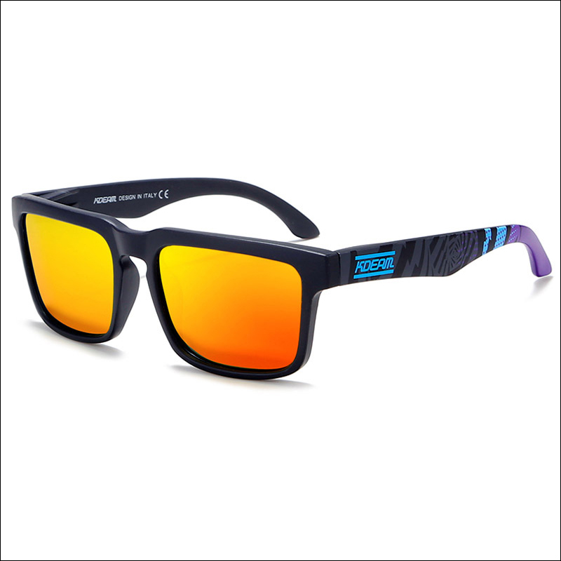 KDEAM 2019 Trending Product ideas Fashion Multicolored Rectangle Frame Sunglasses Polarized UV400 High Quality Coat Eye Glasses