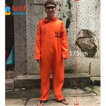 Halloween adulte homme prisonnier orange combinaison costumes